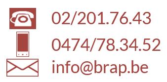 Contactgegevens BrAP: telefoon, GSM en mail
