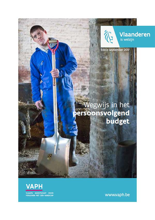 """Afbeelding voorpagina brochure VAPH """"Wegwijs in het persoonsvolgend budget"""""""