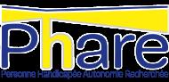 Logo Phare (Personne Handicapée Autonomie Recherchée) met link naar website