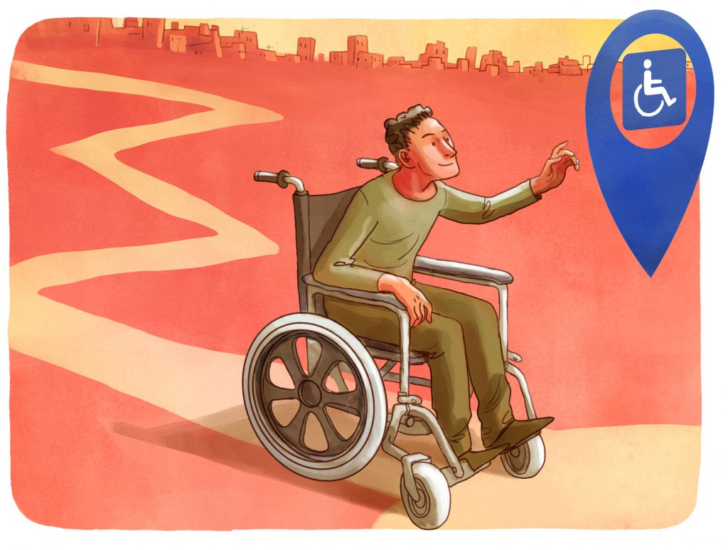 Ik zit in een rolstoel en wil graag een parkeerkaart aanvragen